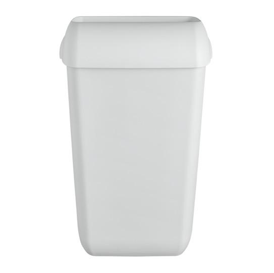 Afvalbak open inworpklep 43 ltr wit